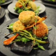 gallery/courgette pumpking balls - vegetarian starter
